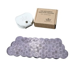 Stamping Plates Set 24E - Love Elements