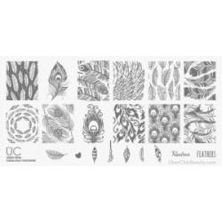 UBERCHIC – Mini Plate 'Fabulous Feathers'