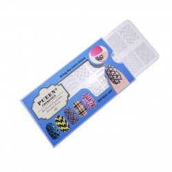 PUEEN Nail Stamping Plate-Geo02