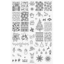 UberChic - Single Plate Christmas 01