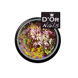 D'Or Nails Crushed Flakes - Bahama Breeze