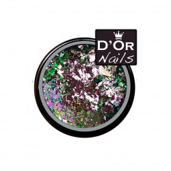 D'Or Nails Crushed Flakes - Malibu Kiss