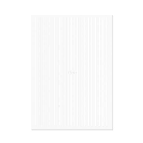 NAIL ART STRIPS WHITE