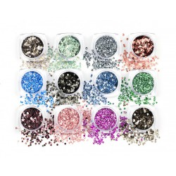 D'Or Nails Glittermix Metal Round