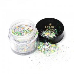 D'Or Nails Glitter Line - Fetti pop ART 09